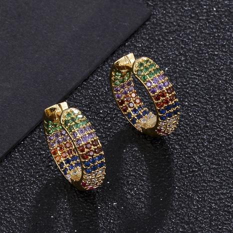 Pendientes geométricos de circonio de color de moda al por mayor NHXIN342345's discount tags