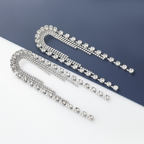 pendientes de borla con diamantes de aleación de arco de moda NHJE342408's discount tags