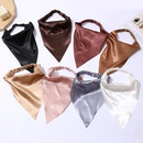 Fashion solid color elastic triangle scarf hair accessories wholesale NHOF342455
