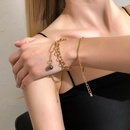 Fashion geometric ball embellishment bracelet set wholesale NHMD342470