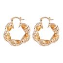simple fashion irregular geometric creative twist retro earrings NHMD342485