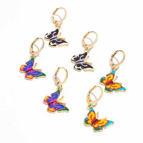 Mode mehrfarbige Schmetterlingslegierung Ohrringe Großhandel NHPV342500's discount tags