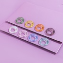 wholesale Korean candy color resin ring set NHLL342524