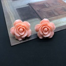 simple fashion style Flower Silver Needle Stud Earrings NHOM342537