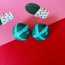 Retro drip glaze contrast color geometric irregular star moon alloy earrings wholesale NHOM342541