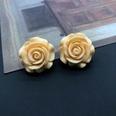NHOM1589507-Yellow-Silver-Needle-Stud-Earrings-2.9CM