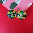 NHOM1589539-Small-flower-drip-glaze-silver-pin-earrings-2.2C