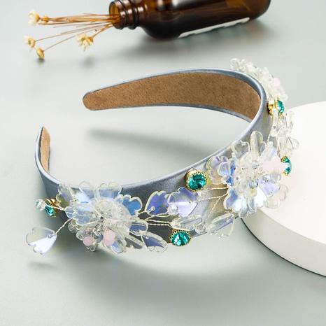 Diadema de flores de cristal de alambre de cobre hecha a mano coreana NHLN342582's discount tags