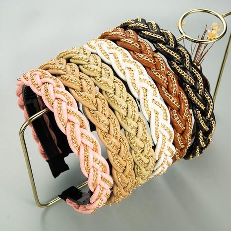 nueva diadema de cadena de cuero trenzado triángulo estilo moda NHLN342586's discount tags