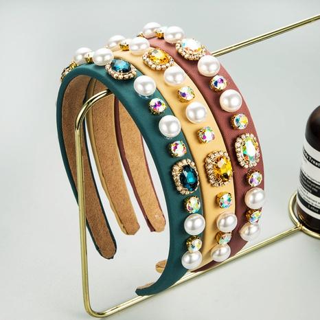 diadema de perlas barrocas de estilo retro NHLN342590's discount tags