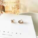 Fashion Small Star Asymmetrical Pearl Rhinestone Alloy Earrings NHBY342593