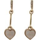 Fashion rhinestone heartshape alloy earrings wholesale NHBY342613