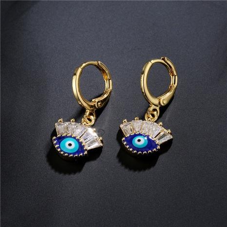 Pendientes de ojo de diablo con micro incrustaciones de cobre de estilo nuevo NHFMO342674's discount tags