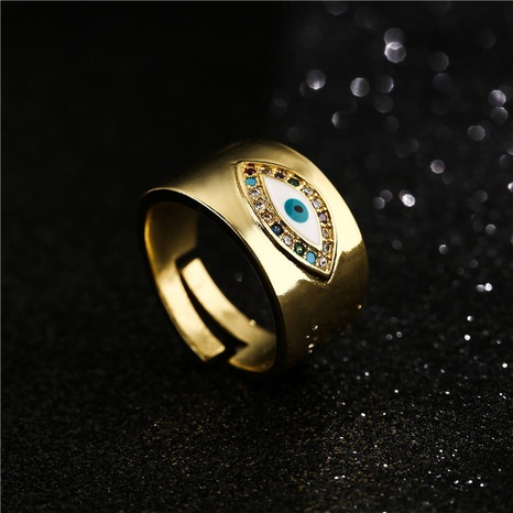 Retro kupferbeschichteter Gold Eye Open Ring NHFMO342685's discount tags