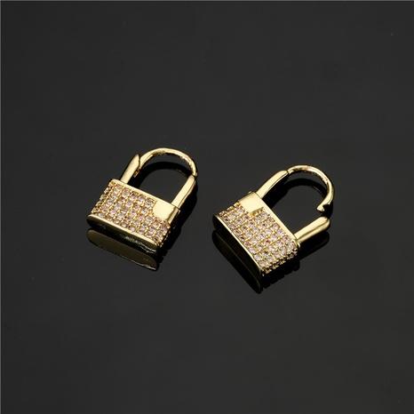 aretes de circonitas de color con incrustaciones de cobre puro chapado en oro estilo amor creativo NHFMO342686's discount tags