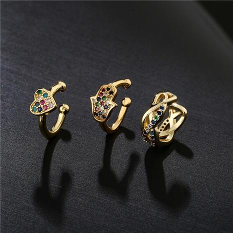 nuevos clips de oreja de circón con microincrustaciones de cobre de moda simple NHFMO342690's discount tags