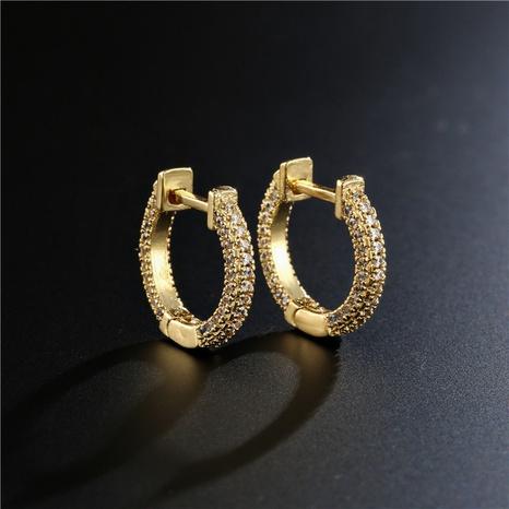 pendientes geométricos de cobre de circonita de estilo simple de moda NHFMO342717's discount tags