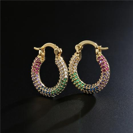 Pendientes geométricos chapados en cobre de estilo simple de moda vendidos en caliente NHFMO342721's discount tags