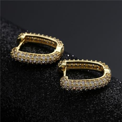 aretes de circonita con micro incrustaciones de cobre de moda creativa NHFMO342732's discount tags