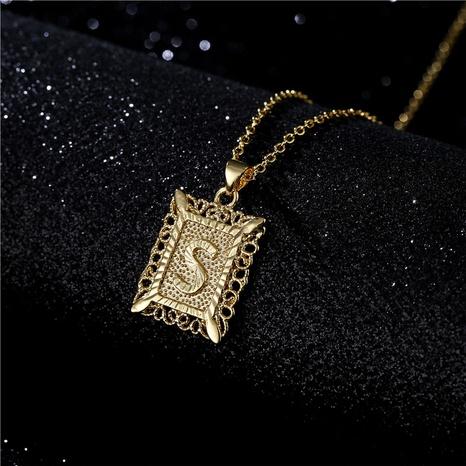 Fashion Hollow 26 Englisch Brief Kupfer Halskette Großhandel NHFMO342733's discount tags