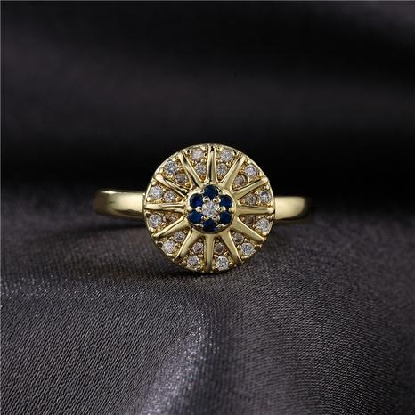 Mode Kupfer mikro-eingelegte Glück Teufelsauge offenen Ring NHFMO342737's discount tags