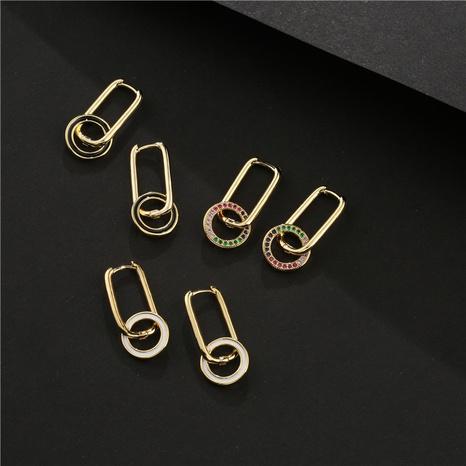nuevos aretes con microincrustaciones de cobre de moda simple NHFMO342761's discount tags