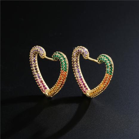 moda estilo simple cobre micro incrustaciones de circonio lindo amor pendientes NHFMO342764's discount tags