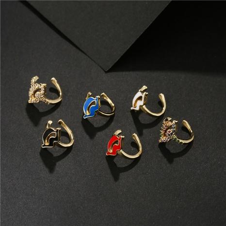 moda nuevo clip de oreja de labios pequeños lindos microincrustaciones de cobre NHFMO342775's discount tags