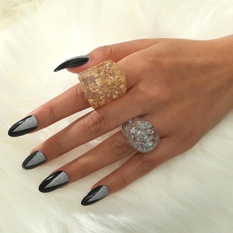 Al por mayor anillo de resina de 2 piezas de platino con incrustaciones retro NHKQ342790's discount tags