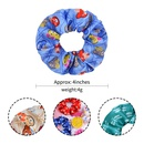 simple childrens retro solid color ponytail hair scrunchies set  NHMO342793