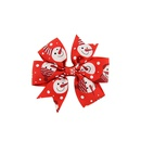 new Christmas style Polyester ribbed bow hairpins NHMO342800