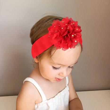 neue koreanische Mode Stil Kinder Chiffon Blume Stirnband Set NHMO342818's discount tags