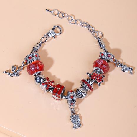 Pulsera de cristal con incrustaciones de diamantes geométricos de moda NHYAO342909's discount tags