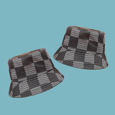 Sombrero de pescador a cuadros retro casual a cuadros de moda coreana NHAMD343051's discount tags