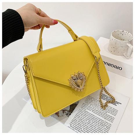 Fashion heart-shaped rhinestone shoulder messenger portable small square bag wholesale NHWH343106's discount tags