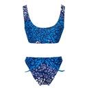 Fashion printing plus size sexy split swimsuit wholesale NHHL343235
