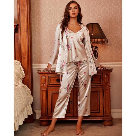 pantalones cortos de tirantes de moda pantalones de bata exterior camisón de cuatro piezas NHJO343271's discount tags