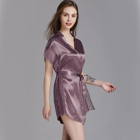 nueva moda sexy pijama de seda de hielo de color sólido NHJO343276's discount tags