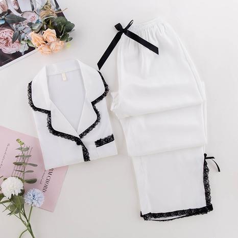 moda sexy nueva seda pijama de encaje de seda de hielo NHJO343287's discount tags