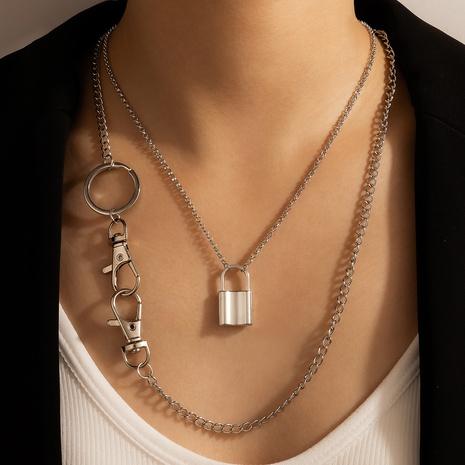 collar colgante retro geométrico de la cadena del estilo del punk creativo NHGY343419's discount tags