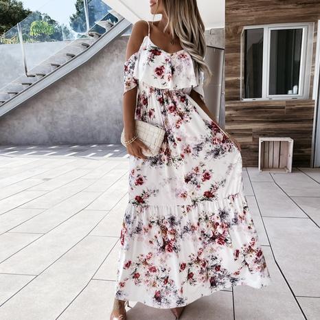 Vestido largo con estampado de temperamento de liga de moda de verano NHWA343386's discount tags