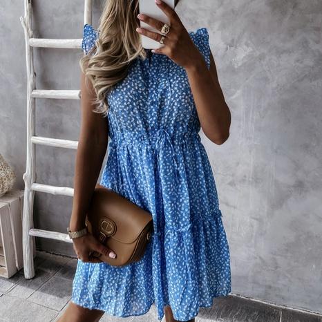 Vestido todo fósforo floral sin mangas estampado de verano para mujer NHWA343389's discount tags
