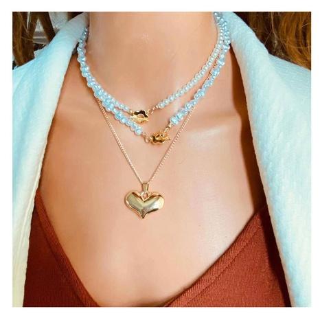 Collar de aleación de cadena de perlas en forma de corazón de moda al por mayor NHCT343665's discount tags