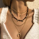 Bohemian Miyuki Bead Chain Moon Round Necklace Wholesale NHXR343676