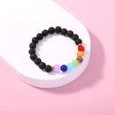 Bracelet de perles de couleur chakra  7 couleurs en pierre volcanique NHAN343762