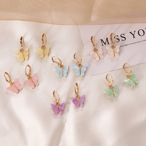 fashion style multicolor butterfly earrings  NHBW343773's discount tags