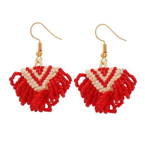 Bohemian Handmade MIyuki Beads Leopard Print Long Tassel Earrings NHJJ343789's discount tags