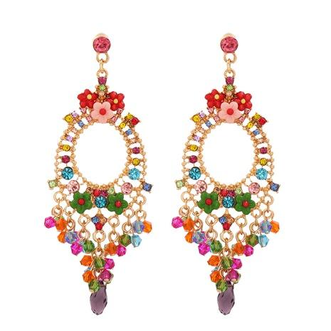 Pendientes de aleación bohemia tallados largos de diamantes de imitación de moda al por mayor NHJJ343792's discount tags
