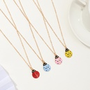 Fashion cute simulation dripping oil sevenstar ladybug alloy necklace wholesale NHNZ343796