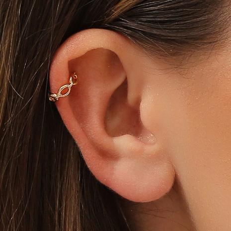 Pendientes de cobre irregulares creativos de cadena hueca geométrica de moda al por mayor NHDP343819's discount tags